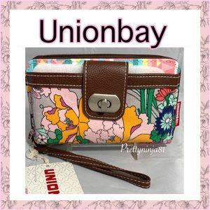 Unionbay Floral Wallet Canvas Nwt